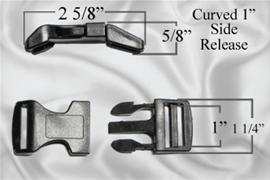 "1"" Curved Plastic Side Release Buckles"