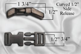 "1/2"" Curved Side Release Buckles"